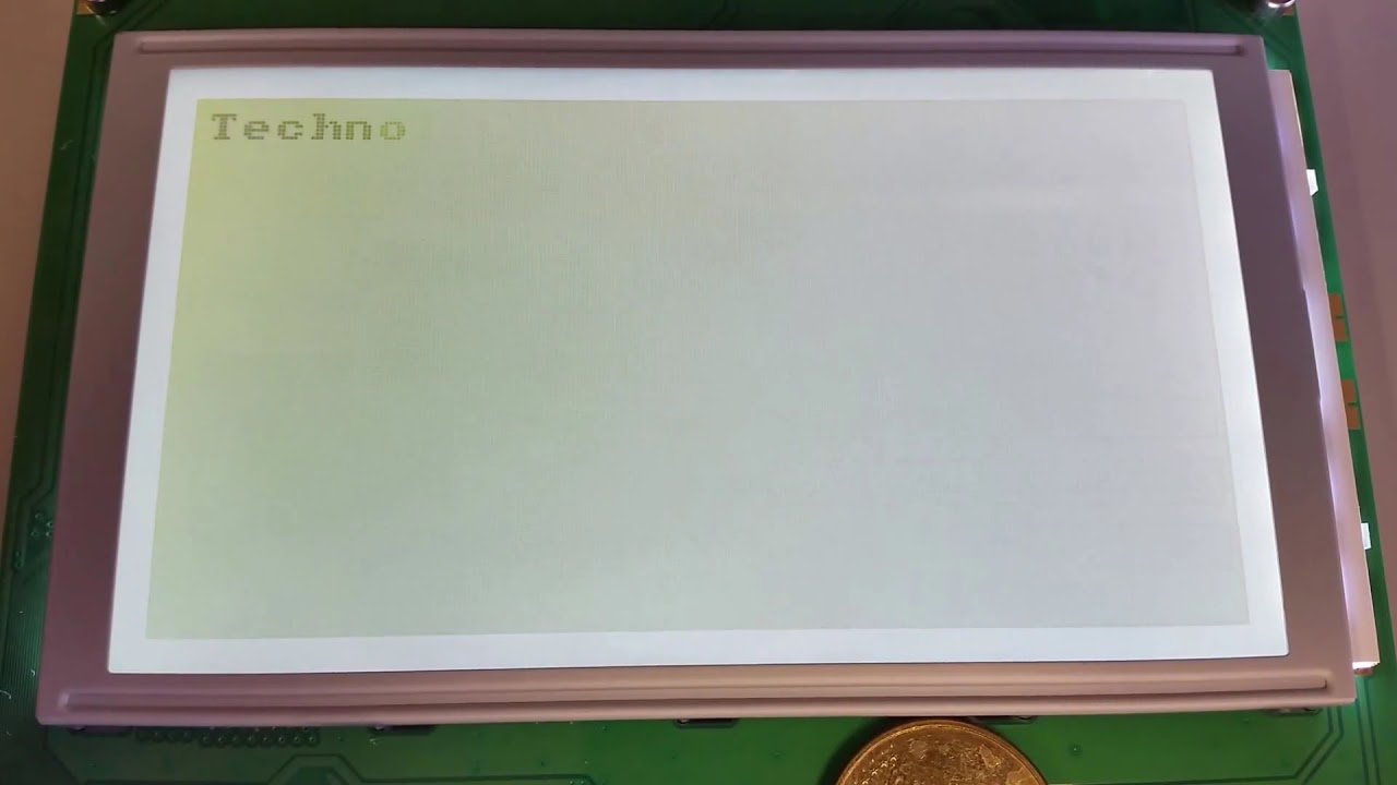 240x128 LCD   Driver: T6963C   Interface: 8080