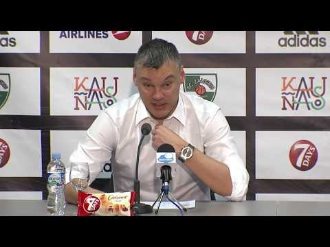 EuroLeague: Žalgiris Kaunas – Olympiacos Piraeus press conference