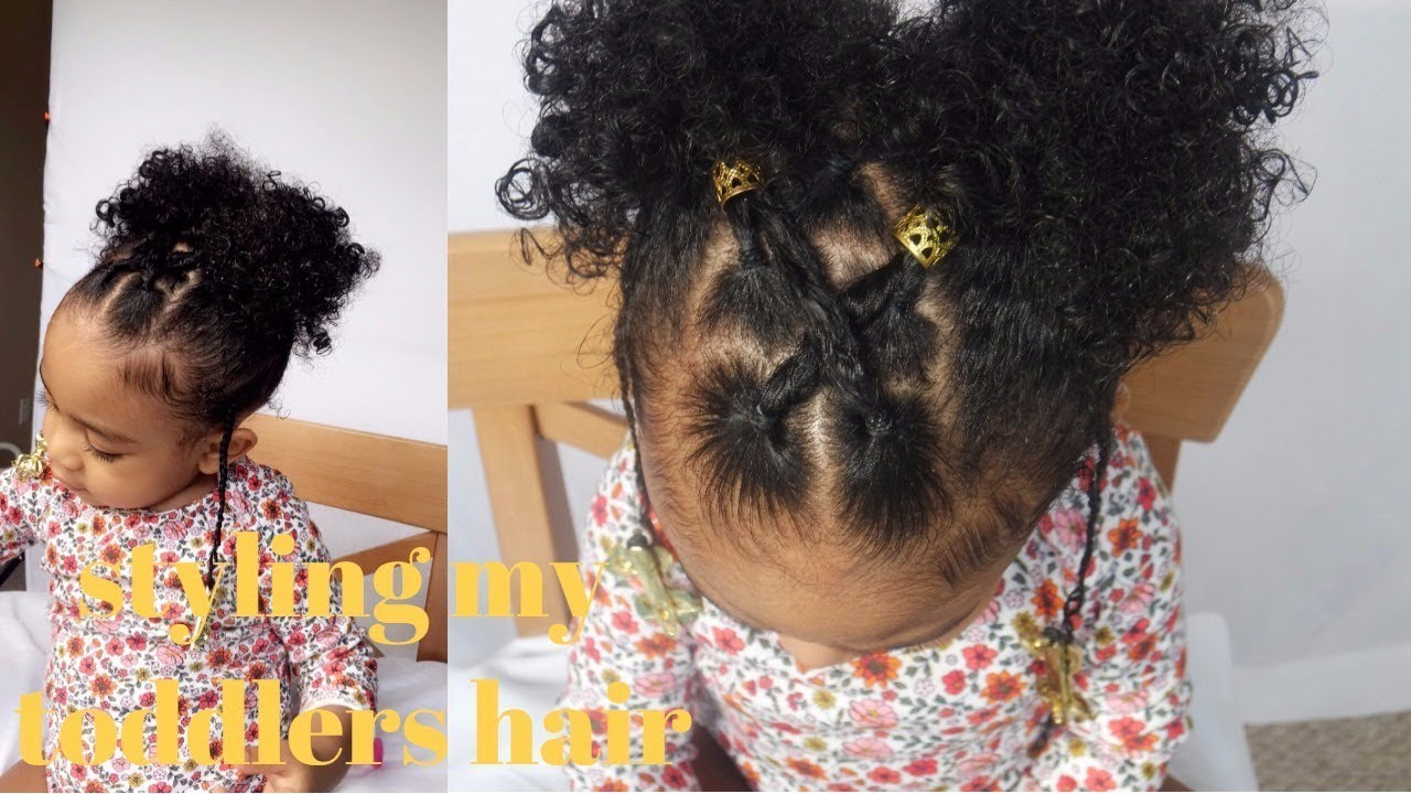 Styling My Toddlers Short Curly Hair Mommy Monday Youtube