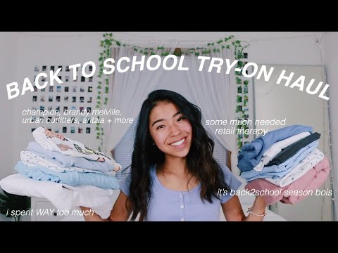 MASSIVE BACK TO SCHOOL TRY-ON HAUL
