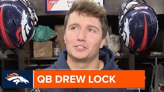 Drew Lock: 'I definitely feel like I'm back to being super comfortable'