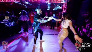 Robert Rosario & Melissa Sorkin - Bachata social dancing | Chicago Salsa & Bachata Festival 2019