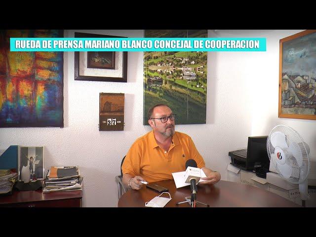 Rueda de prensa Mariano Blanco Fernandez, Concejal de Cooperación, Medios de Comunicación y Festejos
