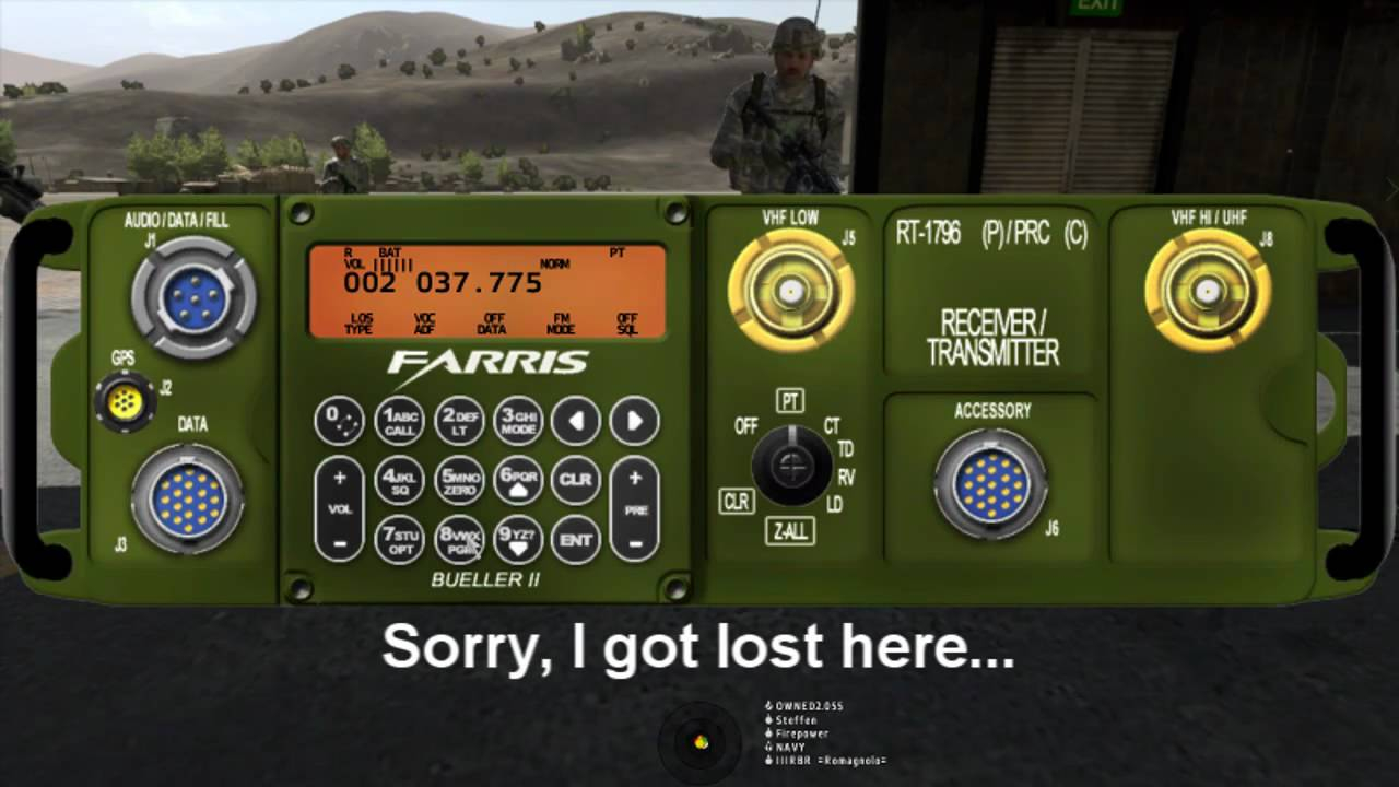 how to use radio in arma 3