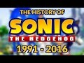 The History Of Sonic The Hedgehog 1991 - 2016 (25th Birthday) Compilation Of All Sonic Games video