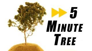 Combien de temps faut-il pour faire un réaliste arbre – Modèle de chemin de Fer