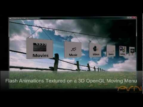 Implementing Flash Animations in 3D Scenes & on 3D Objects
