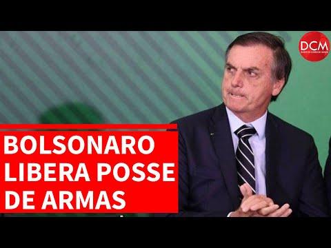 Bolsonaro libera as armas e Onyx Lorenzoni compara com liquidificador