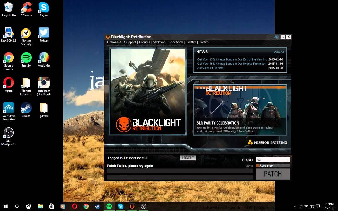 Blacklight retribution launcher not updating