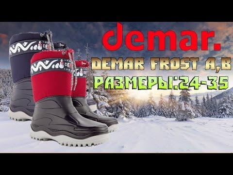 Детские демисезонные сапоги Demar Frost A,B