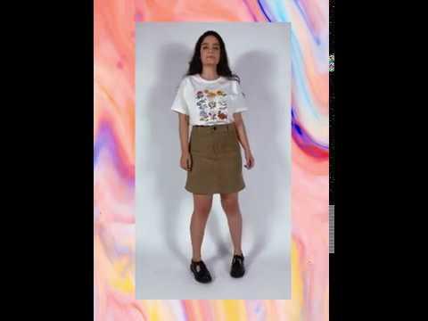 FLEURS t-shirt - off white (unissex)