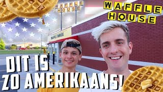 DIT ZIE JE IN ELKE AMERIKAANSE FILM! (WAFFLE HOUSE) 🥞🇺🇸 | Tom & Mats in Amerika #14