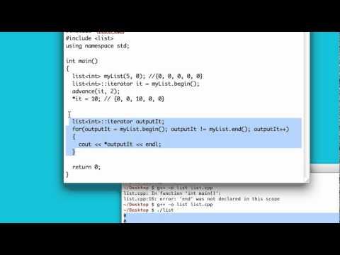 C++ Basic Skills: 38 - Lists
