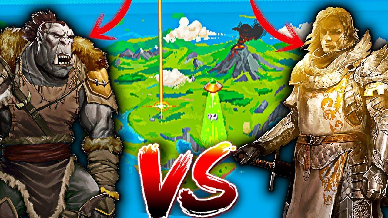 HUMANOS vs ORCOS ???? QUIEN GANA ? | World Box