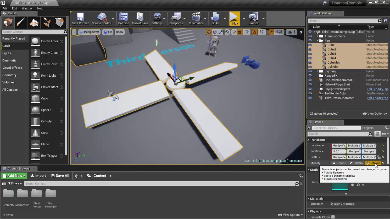UE4: How to Rotate an Object Perpetually