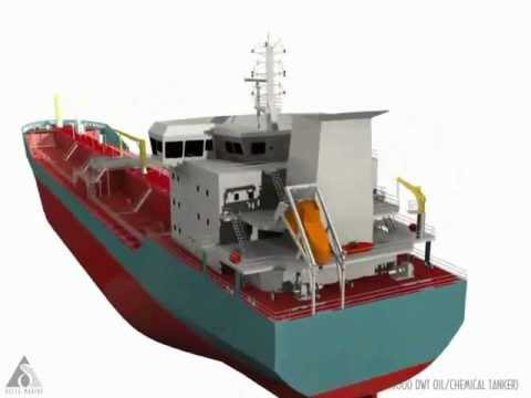 20000 DWT Oil Product & Chemical Tanker Animation