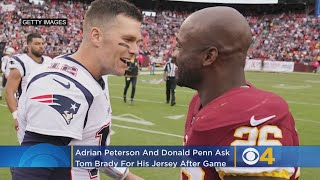 Redskins Adrian Peterson, Donald Penn Both Asked Tom Brady For His Jersey On Sunday