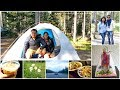 Weekend Camping Trip at Lake Louise Camping Ground with Friends | First Time Camping Experience