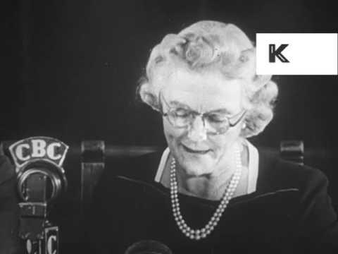 1940s WWII Clementine Churchill Makes Speech, 1944