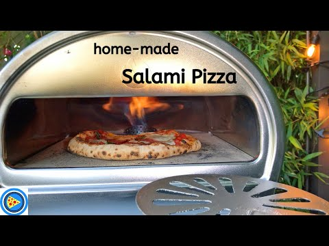 Salami Pizza Real-time Cook In Roccbox Pizza Oven!