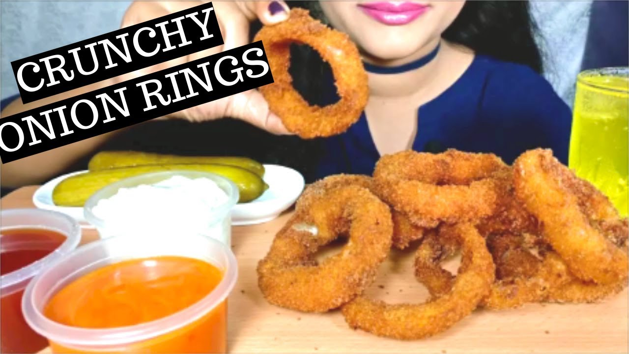Asmr Crunchy Fried Onion Rings Mukbang Extreme Crunchy Crunchy Eating Sounds No Talking