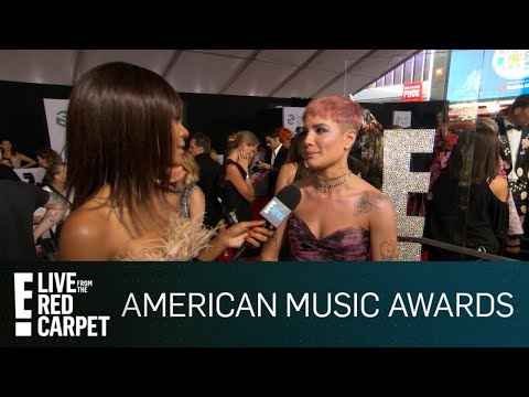 Halsey Dishes on B-Day Italy Trip With G-Eazy at 2018 AMAs | E! Red Carpet & Live Events
