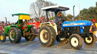 John deere 5050D vs New Holland 3630 tractor tochan in Haryana mustfabad