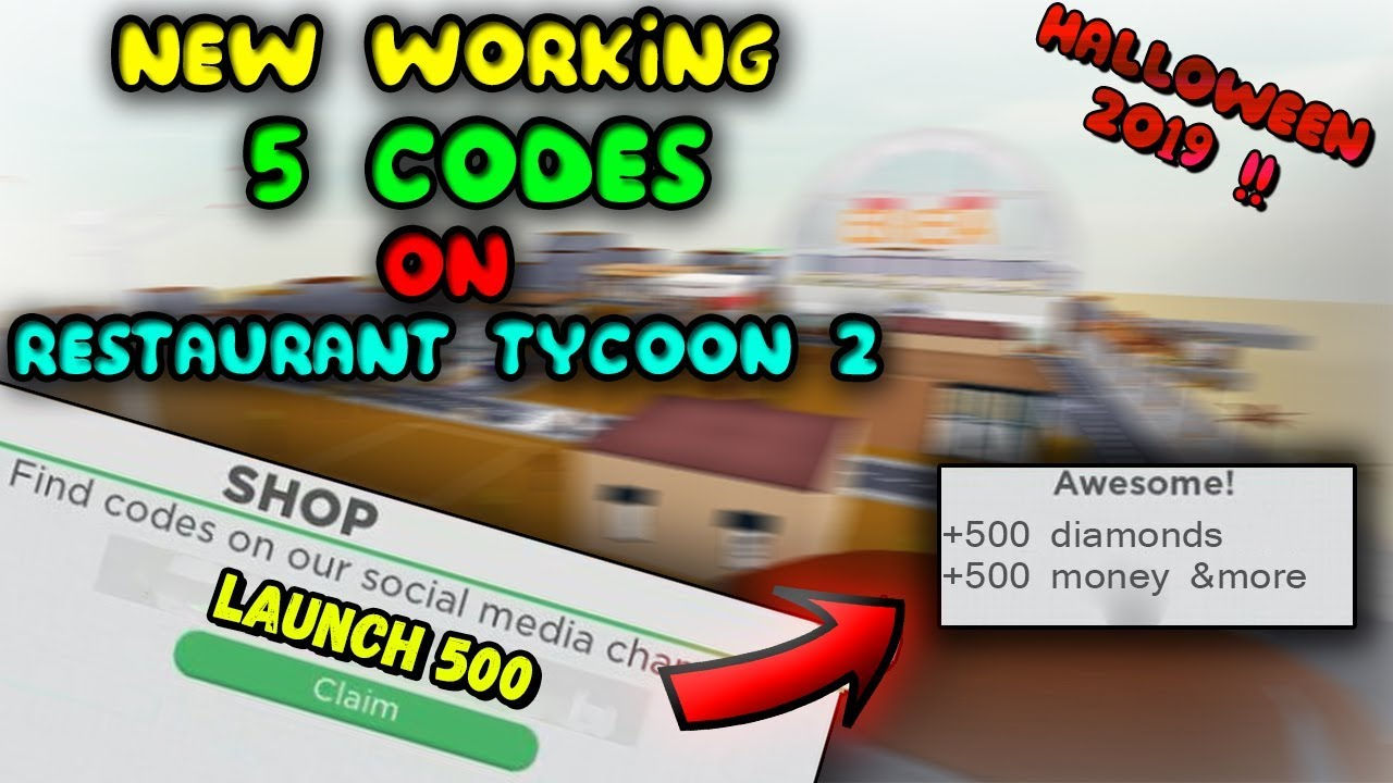 All New Codes On Restaurant Tycoon 2 October 2019 Roblox