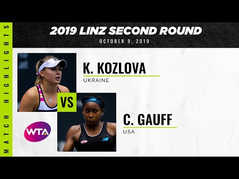 Kateryna Kozlova vs. Coco Gauff | 2019 Linz Second Round | WTA Highlights