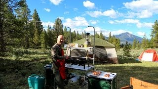 Colorado Family Camping:  Breakfast In The Rockies