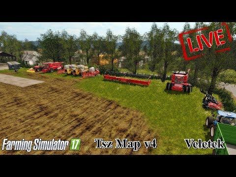 .Esteli. Farming Simulator 17  . [TSZ map v4] Veletek ► #faszsetudja