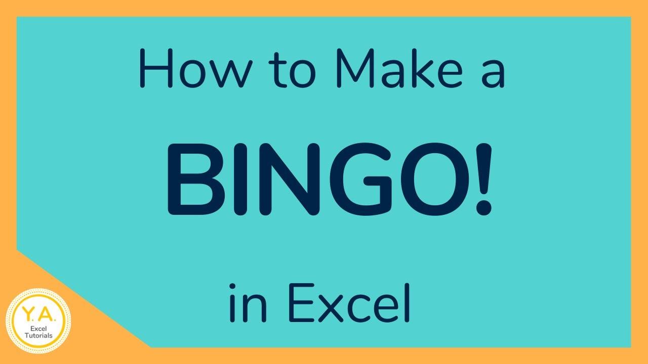 how to create a bingo board using excel    make bingo game