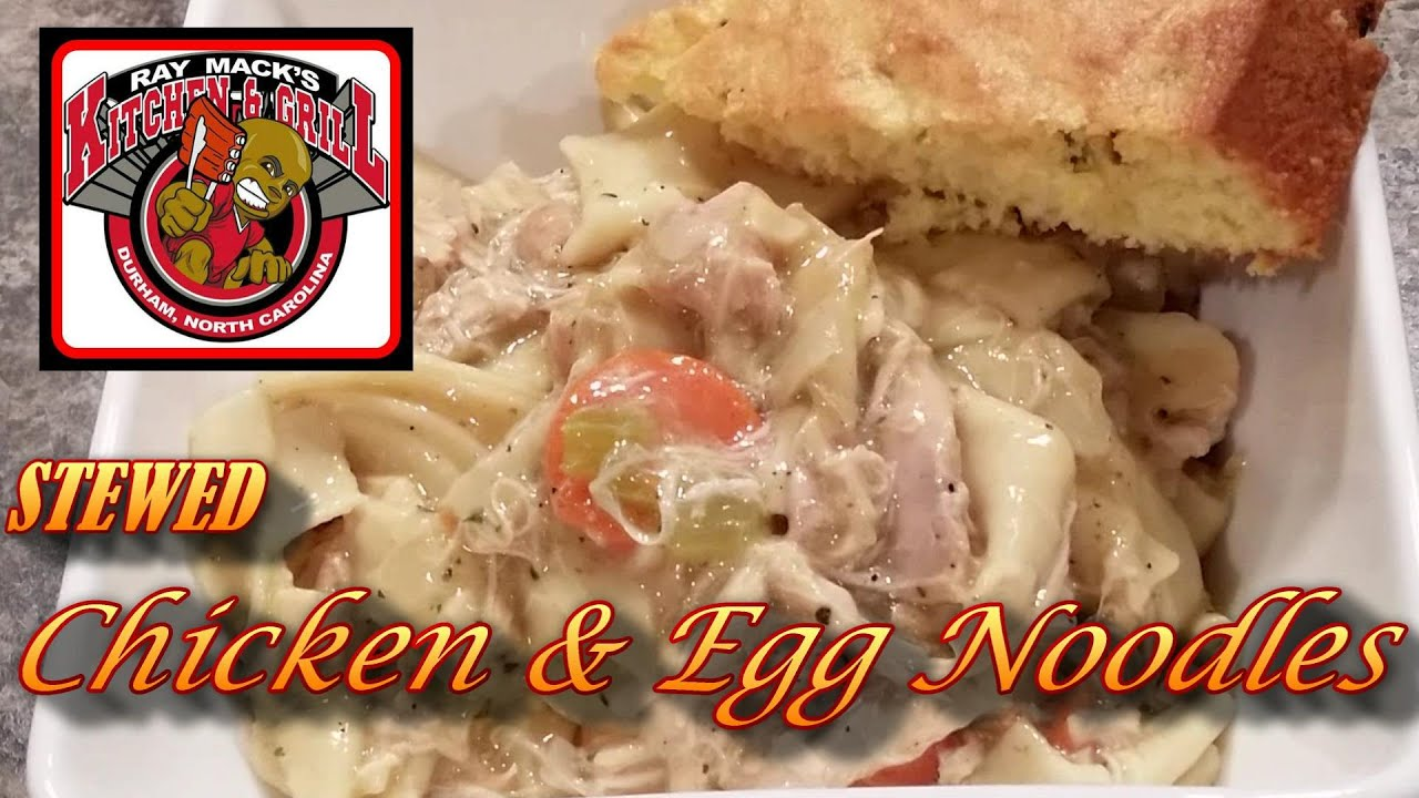 Stewed Chicken And Egg Noodles Soul Food 101