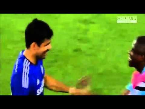 Diego costa fantastic solo goal  fenerbah�e vs chelsea 0 1 friendly match 2014