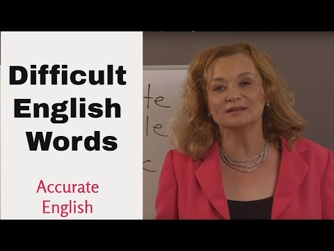 Difficult  English Words - pronunciation  lesson  - dropped syllables   Accurate English