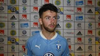 Intervju med Erdal Rakip efter GIF Sundsvall - Malmö FF