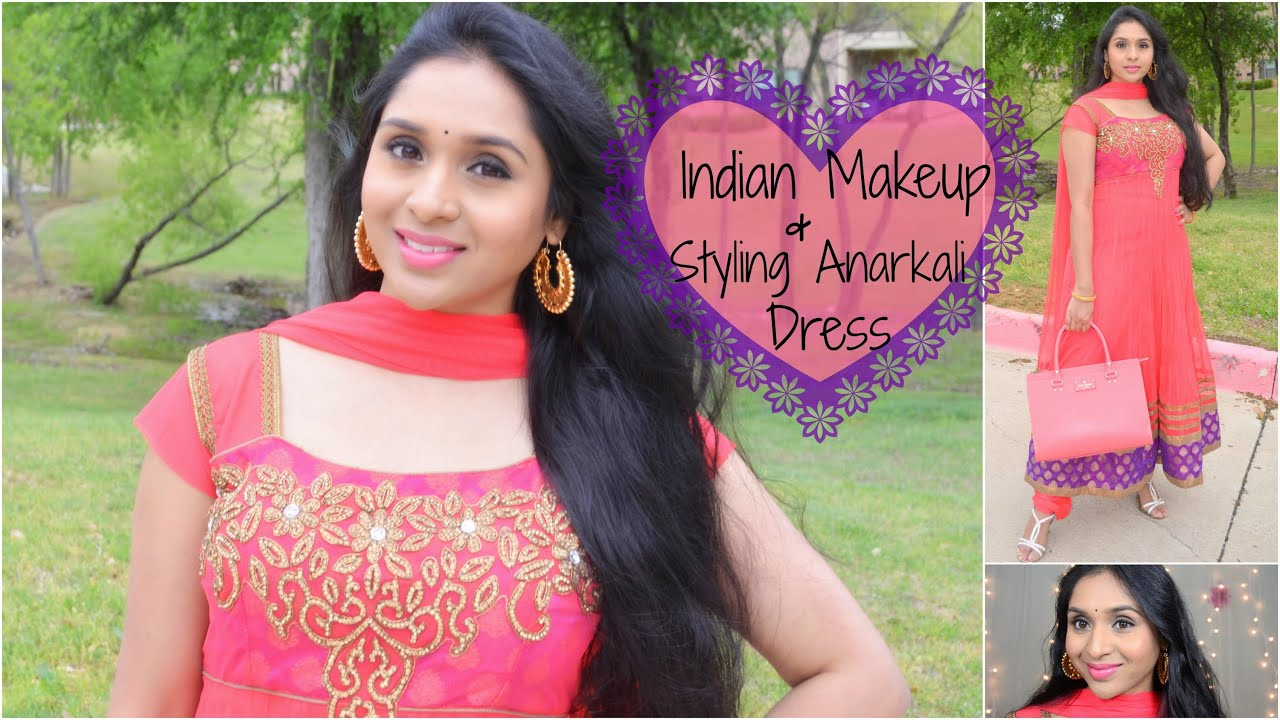 Get Ready With Me: Makeup & Indian Anarkali Dress | Karva Chauth ...