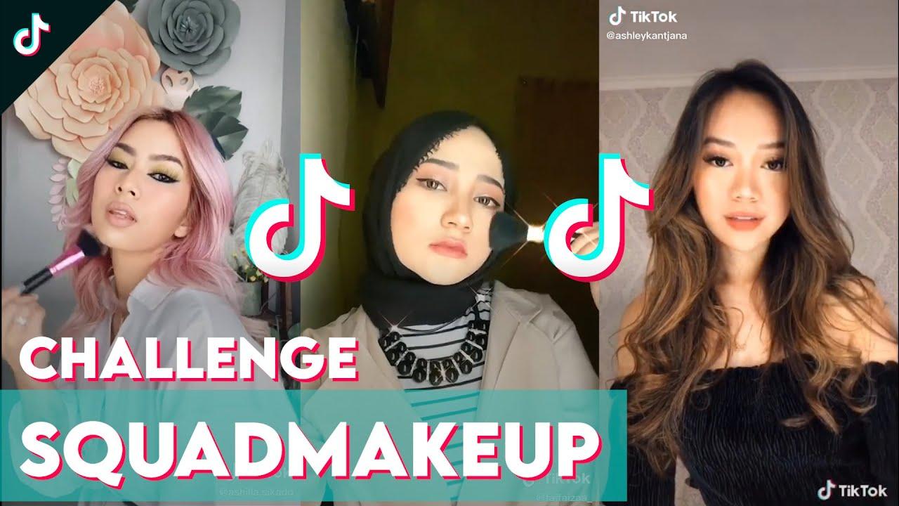 Pass The Brush Challenge Bareng Squad Makeup Kamu Nih Tiktokindonesia Youtube