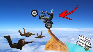 GTA 5 CRAZY BIKE RACE IN THE SKY !!