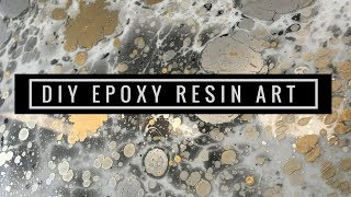 DIY Gold & Silver Resin Epoxy Wall Art
