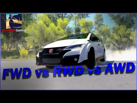 Forza Horizon 3 | Testing out FWD vs RWD vs AWD | Ft.