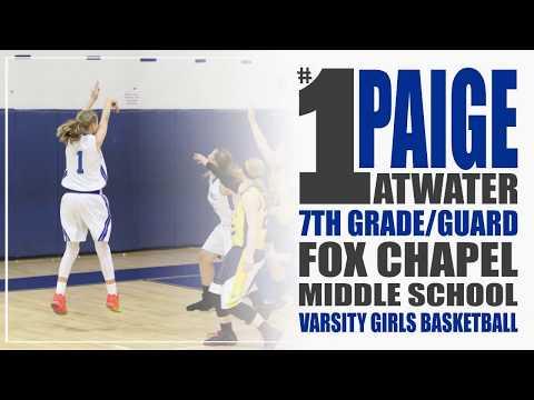 Paige Atwater | 7th Grade | 3 Pointers | 2018 Season | Fox Chapel Middle School Varsity Basketball