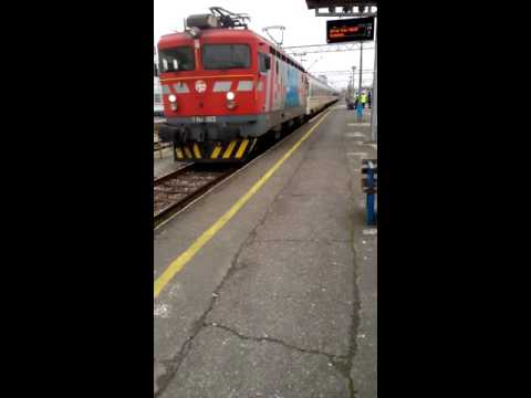 Zagreb:Central railway station,Arrival of train from Vinkovci