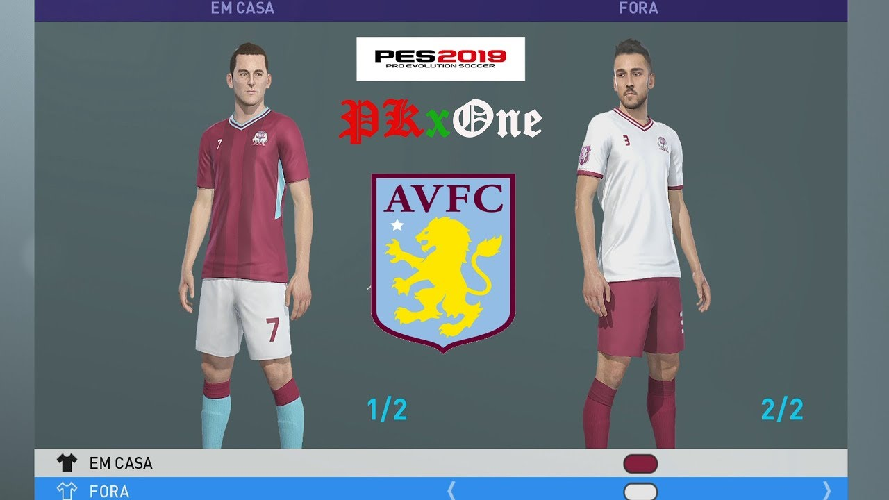ASTON VILLA KITS PES 2019 XBOX ONE