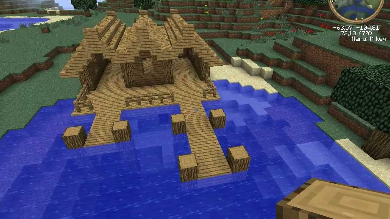 Minecraft Tutorial Medieval Dockhouse YouTube