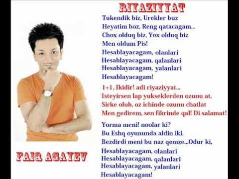 Faiq Agayev Riyaziyyat 1oo F A Official Video 2012 Youtube