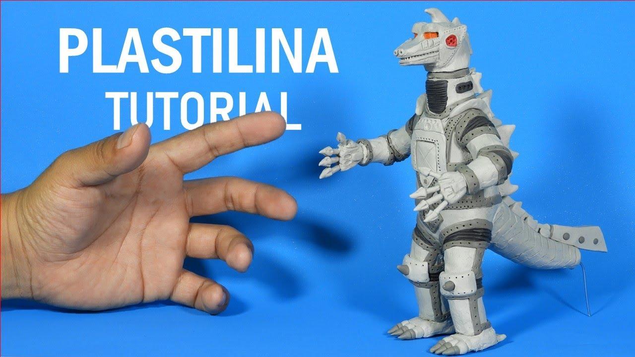 Como hacer a MECHAGODZILLA 1975 de Plastilina paso a paso - Mi mundo de Plastilina