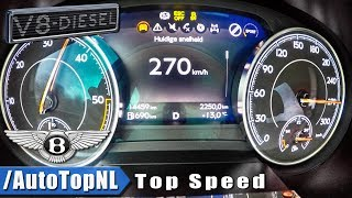 Bentley Bentayga V8 Diesel ACCELERATION & TOP SPEED 0-270km/h by AutoTopNL