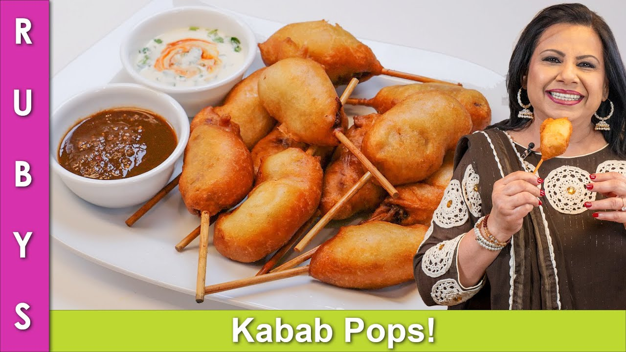 Kabab Pops! Lollypop Kabab Bread Rolls Excellent for Parties Recipe in Urdu Hindi - RKK
