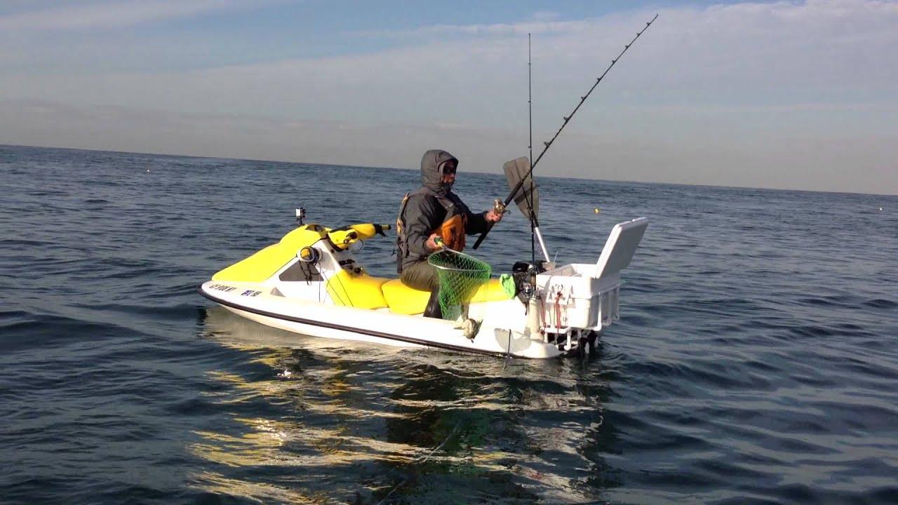 Jetski fishing pt loma kelp beds youtube for Point loma sportfishing fish count